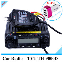 TYT TH9000D Mobile Transceiver 60W Full Frequency VHF Channel Step 5/6.25/8.33/10/12.5/15/20/25/30/50KHz 200 Memory Channel(China)
