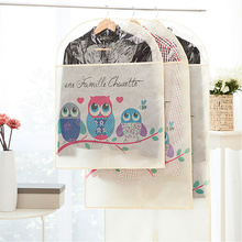 Non-woven coat dust cover clothes cover clothes hanging pocket dust cover pouch clothing sets