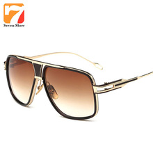 2017 Steampunk Sunglasses Men Women Brand Designer Oversized Sun Glasses For Male Shades Square Vintage Oculos Lunette De Soleil(China)