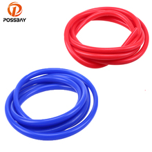 POSSBAY Universal 2m Blue/Red Universal 3mm/4mm/6mm/7mm Auto Car Vacuum Silicone Hose Racing Line Pipe Tube Car-styling(China)