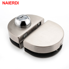 NAIERDI Double Glass Door Lock 304 Stainless Steel Single Open Frameless Door Hasps For 10-12mm Thickness Furniture Hardware(China)