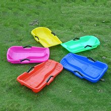 Hot Sale Winter Outdoor Sport Kids Sled Children Sand Grass Ski Board Plastic Toboggan Safety Brake Sledge