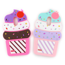 "3D Cute Cartoon Case For LG Stylus 3 / Stylo 3 / K10 Pro LS777 5.7"" 2017 Cherry Cupcakes Ice Cream Shaped Silicon Case Cover(China)"