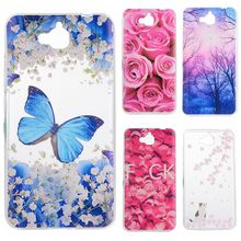 Phone Cases sFor Huawei Y6 Pro Honor 4C Pro 5.0 Flower Rose Plant Butterfly Pattern Clear Soft TPU Back Cover for Huawei Enjoy 5