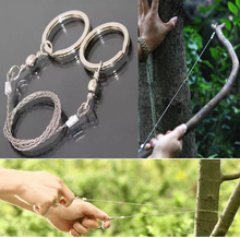 1pcs Outdoor survival equipment Wire saw According to the line wire saw Stainless steel wire rope Universal saw blade(China)