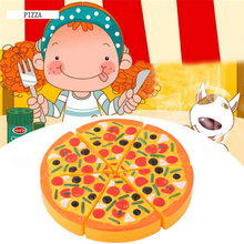 2018 Brand New 1 Set Childrens Kids Pizza Slices Toppings Pretend Dinner Kitchen Play Food Toys Kids Gift MU896554(China)