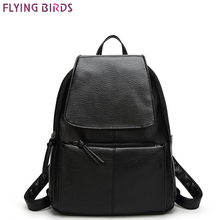 FLYING BIRDS fashion Mochila women backpack leather backpacks school bags female travel bag high quality casual bag(China)
