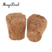 10pcs Tapered Wine Bottle Cork Stoppers Natural Cork Plugs Bar Tools Size Choice(China)