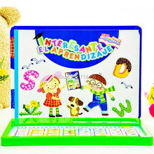 Spanish language ABC teaching toy learning machine,educational plastic book,letters chart learning machine for baby