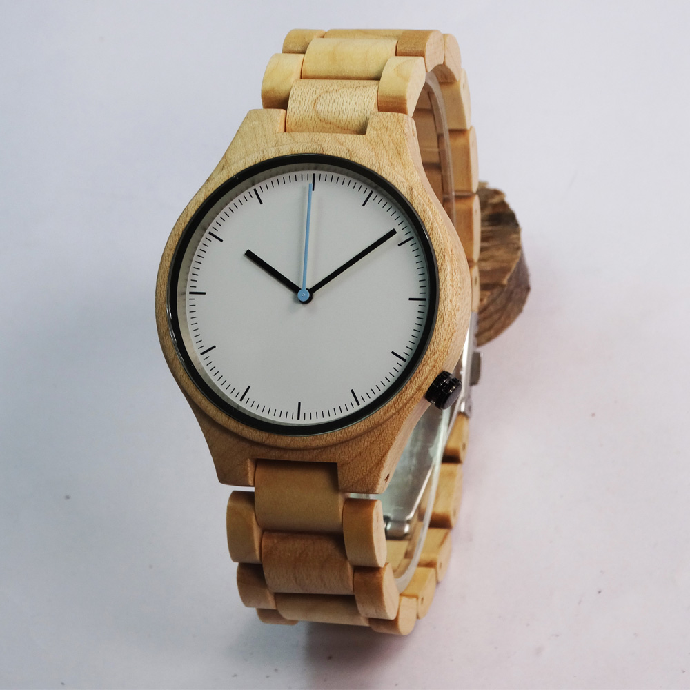 New Maple Wooden Watch For Men Groomsmens Gift With Luxury Round Wristwatch With Gifts Box <br>