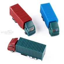 NEW 5PCS 1:150 N Scale Plastic Container Colorful Truck Model Cars Toys Railway(China)