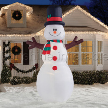 3m Airblown Inflatable Christmas Decorations Inflatable Snowman With LED Yard Holiday Decoration