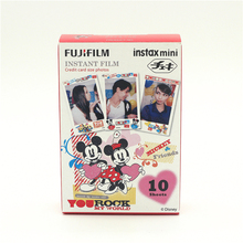 Genuine Fujifilm Instax Mini Film ( 10 sheets ) New Mickey Instant Photo Camera Film For 8 50s 7s 90 25 Free Shipping