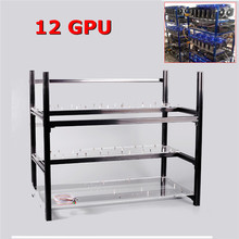 Stackable Frame 12 GPU Graphics Card Open Air Miner Frame Aluminum PCI-E Cable Computer Case Mining Rig Case ETH BTC Ethereum(China)