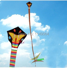 free shipping high quality 30m snake kite with kite tails handle line flying bird kite eagle kite animal kite toys hcxkite