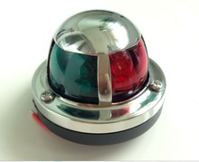 Marine boat Yacht  light Stainless Steel Red and Green Bow Navigation Lights Deck Mount side LED light