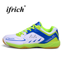 ad85d76649f 2018 Badmation Tennis Shoes Anti-Slip Badminton Court Sneakers Green Red  Indoor Training Shoes Rubber Bottom Tennis Sneakers