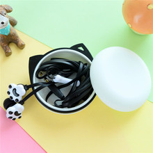Hot Sale  Cartoon Earphones Cute Candy Color 3.5mm Jack Headphones With Microphone For Mobile Phones Original Box Gift Case M133