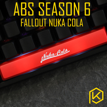 Novelty Shine Through Keycaps ABS Etched, Shine-Through light fallout nuka cola black red spacebar custom mechanical keyboards(China)