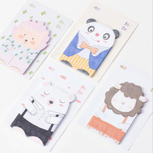 4pcs/Lot Love dress animal memo pad Panda bear sheep sticky note Post it note Gift stationery office school supplies GT400