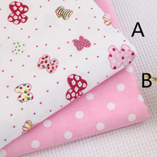 160cm*50cm bow dot pink Cotton fabric cotton clothes bedding quilt table cloth curtain sewing fabric tissue tecido(China)