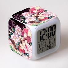 Oriental Project rummia Alarm clock Changing Colors Print Cute Cartoon LED Clock Students Clocks(China)