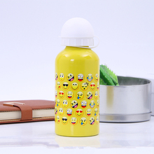 Modern Design 350ml emoji Outdoor Portable Sports Cycling Camping Bicycle Aluminum Alloy School kids Water Bottle