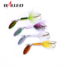 Buy Balleo 4pcs/lot 4g spinner spoon bait fishing bait metal jig spinner Fishing Lure spinnerbait metal jigging lure trout lure for $2.32 in AliExpress store