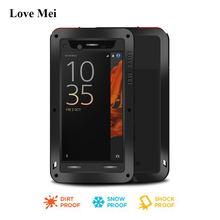 Love Mei Metal Aluminum Case For Sony Xperia XZ Powerful Armor Cover For Xperia XZ Dual F8332 F8331 Water/Shock/Rain Proof Shell