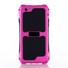 For iPhone 5 5s SE Ultra light Aluminium Alloy Silicone Protective Water/ Dust/Shock Proof Curved Palm Phone Case Free Shipping