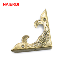 30PCS NAIERDI 30mm x 30mm Book Scrapbooking Albums Corner Bracket Antique Decorative Protectors Crafts For Furniture Hardware
