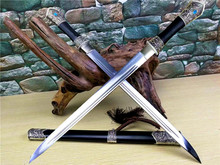 High Quality Tibetan Hunting Sword Knife Sharp Folded Steel Blade Ebony Sheath Full Tang(China)
