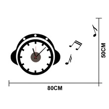 Free shipping DIY classic Zooyoo brand Electronic battery music style clocks wall clock wall sticker home decor for room