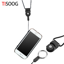 For iPhone 7 6 6s Samsung S8 S7 Universal Phone Hanging Strap Mobile Phone Datachable Straps Flexible Sling Necklace Rope(China)