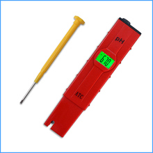 50pcs/lot  ATC PH meter swimming pool water ph test pen accuracy 0.01 / backlight / temperature compensation function