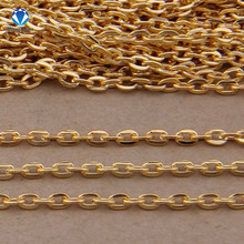 5m/lot Rhodium/Silver/Gold/Gunmetal/Antique Bronze Plated Necklace Chains Brass Bulk for DIY Jewelry Making Materials(China)