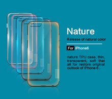 Original NILLKIN Brand 0.6mm Ultra Thin Transparent Nature TPU Case For Apple iPhone 6s Soft case For iPhone 6(China)