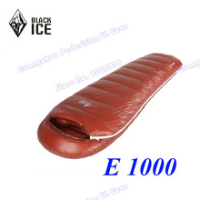 Black Ice E1000L high quality white goose down outdoor hybrid type camping winter sleeping bag