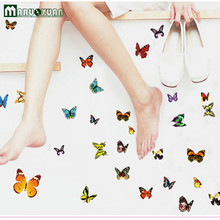 Supply 81 Butterfly Color Transparent Stickers Fashion Creative Home Small Ornament Factory Direct Sales Agents