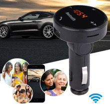 LCD Display Bluetooth Car Kit Hands-free Telephone Car MP3 Player FM Transmitter Modulator SD USB Charger LED TF  Remote E#A3