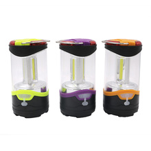 3 Mode 3*COB LED Camping Lantern Built-in Rechargeable Battery Portable Lanterns Power By 3*AAA Battery With USB Charging Cable(China)