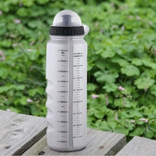 Hot Sale! New Gray PE Cycling Bike Bicycle Sports 1000ml Plastic Water Bottle With Dust Cover(China)