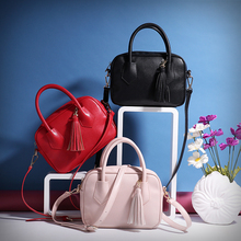 2017 New Female Tassel Falp Bags Luxury Brand Original Single Oblique Cross-Portable Simple Leisure Red Totes Classical Handbags