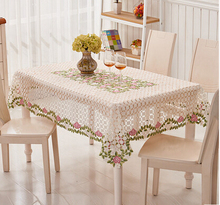 Lace fabric table cloth round table of European pastoral cloth