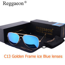 Luxury Classic Brand men women driving aviation Aviator sunglasses 62mm 3026 Mirror Gafas oculos de blue Gold green Colored Lens(China)