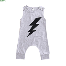 2017 new arrival Toddler Kids clothing Summer Baby Boy Girl Infant Romper Lovely Flash Print Jumpsuit Baby Clothes Outfits HOT(China)