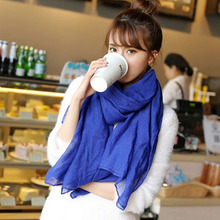 9 colors Fashion Women's Soft Cotton Scarf 180*70 cm Long Scarves Candy Colors Wrap Shawl Women Accessories