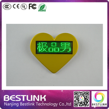 Scrolling led name tag led badge Name card with magnet and pin, new year gifts, business card, rechageable led sign
