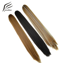 "jeedou Straight Synthetic Ponytails Hair Extensions Long Claw Ponytail 22"" 55cm 130g Black Brown Blonde Color Women's Hairpieces"