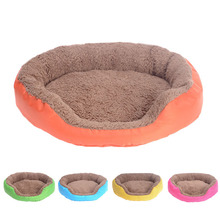 Retro Square Pet House Bed Candy Color Dog Cat Sofa Cushion Bed Breathable Soft Pet Nest For Small Medium Dog Warm Bed Mat S3